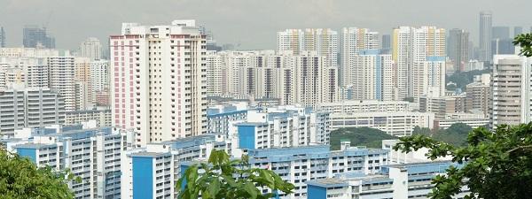 La vue sur les HDB de la ville de Singapour depuis Mount-Faber