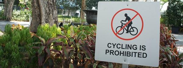 Interdiction d'utiliser son vélo à Singapour