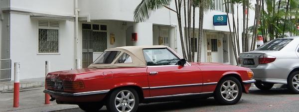 Mercedes Vintage à Tiong Bharu