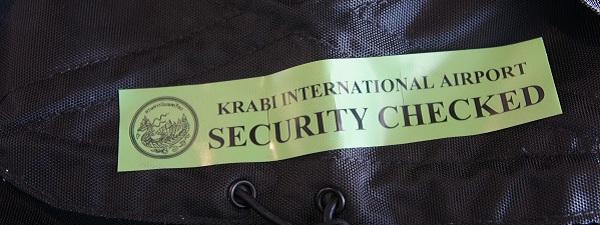 Krabi International Airport Security Check