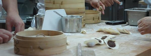 Préparation de Dim Sum à Din Tai Fung