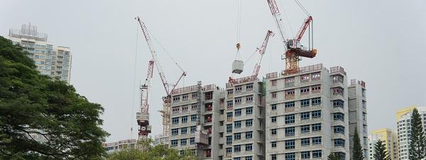 Construction en cours à Singapour