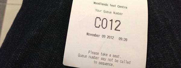 L'attente est très courte pour déposer les documents pour convertir votre permis de conduire