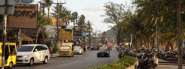 Le front de mer à Phuket