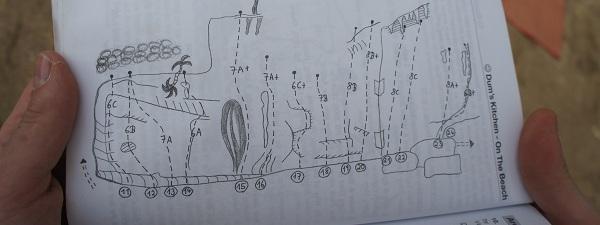 Plan des routes à Tonsai