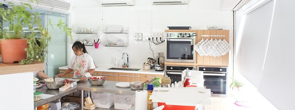 Rapide coup d'oeil dans la cuisine de Maple & Market