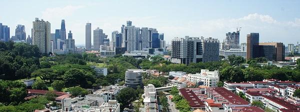 Singapour vue depuis un HDB à Tiong Bahru
