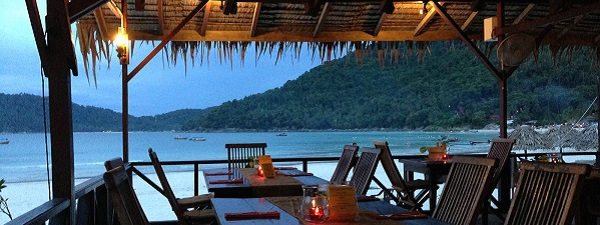 Diner à Long Beach, Kecil Island (Perhentian Islands)