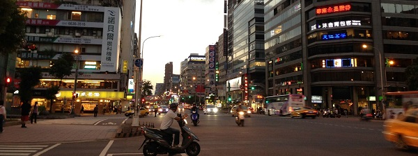 Taipei à la tombée du jour...