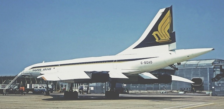 Concorde aux couleurs de Singapore Airlines (Credit Photo - Wikipedia)