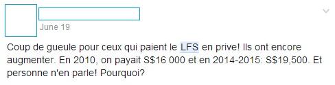 L'actualité du LFS