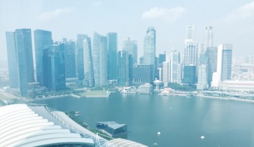 Singapore CBD area from Marina Bay Sands