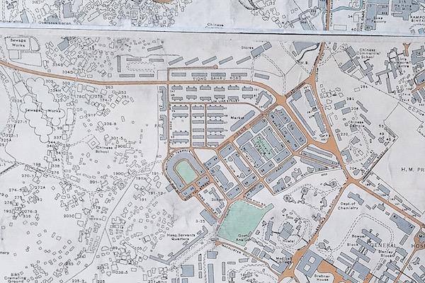 Vieux plan de Tiong Bahru