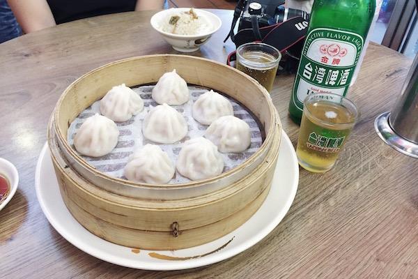 Xiaolongbaos et bière à Taiwan
