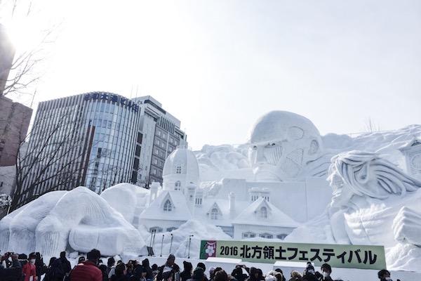 Sapporo Snow Festival Attack on Titan