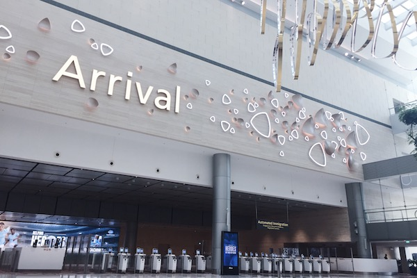 Hall arrivees Changi T4