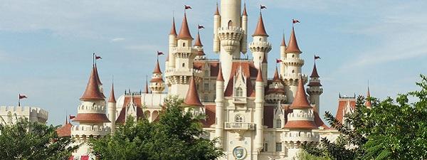 Le chateau de Shrek Far Far Away à Universal Studios Singapour