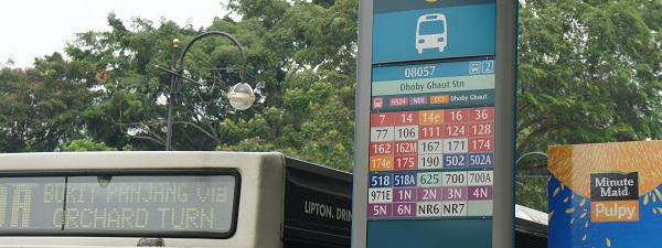 Arrêt de bus à Singapour