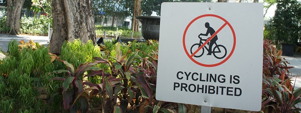 Interdiction d'utiliser son vélo à Singapour