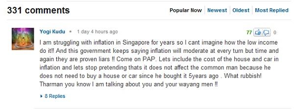 Les internautes ne se privent pas de critiquer le PAP dans les commentaires de Yahoo