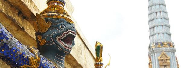 Statue dans le Palais Royal de Bangkok