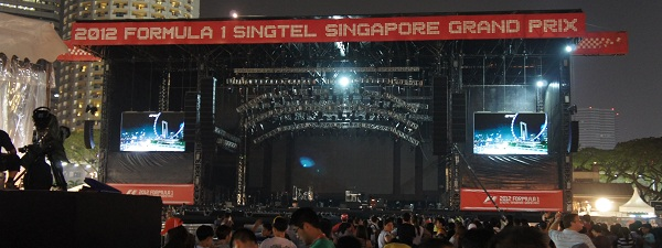 Grand prix de F1 de Singapour - Pandang Stage