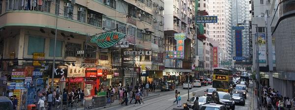 Dans les rues de Hong-Kong