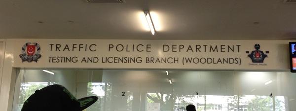 Le comptoir pour faire convertir son permis à Singapour