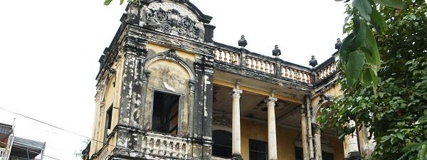Vestige du temps des colonies à Phnom Penh, Cambodge
