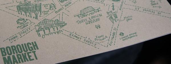 Plan de Borough Market à Londres