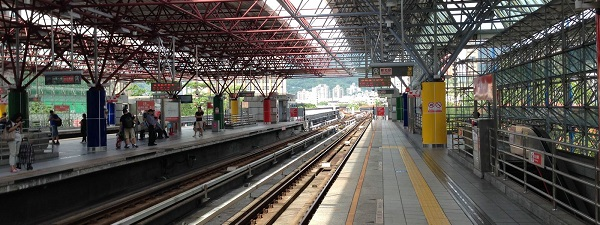 Le métro de Taipei (Beitou MRT station)