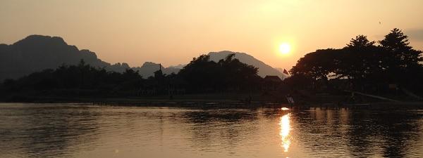 Coucher de soleil au Laos