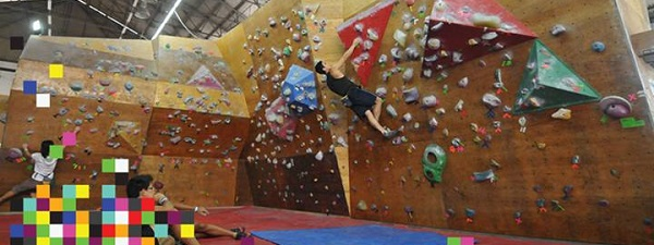 Le mur de bouldering d'Onsight (Crédit Photo - Onsight)