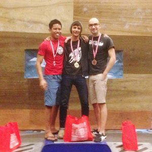 RockMaster 2014 - Novice Men Podium avec Zaki et Azli