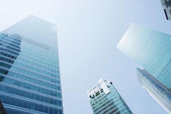 Les tours du centre financier de Singapour