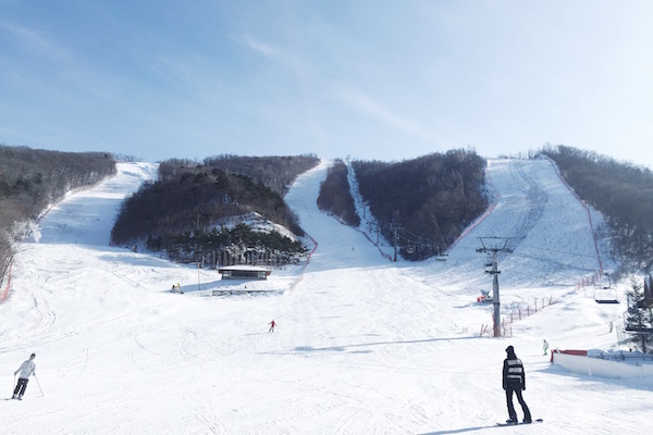 Les pistes de ski Olympiques de Yongpyong