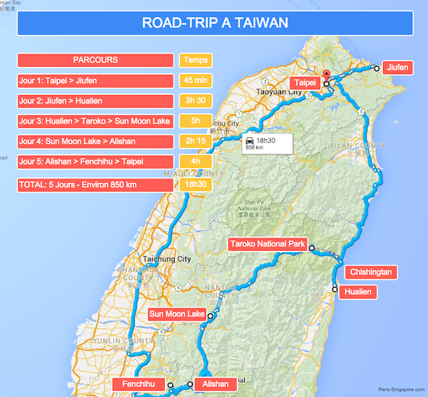 Road-trip Taïwan