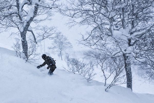 Snowboard à Niseko