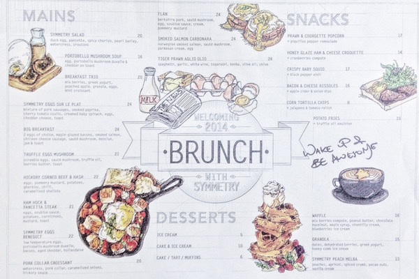 Brunch Menu Symmetry (Bugis)