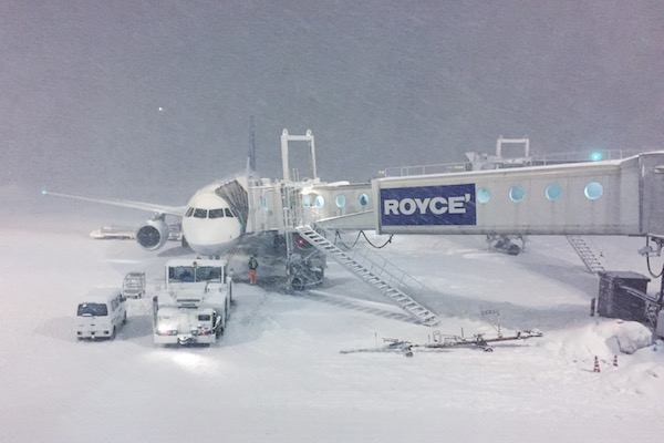 New Chitose Airport sous la neige
