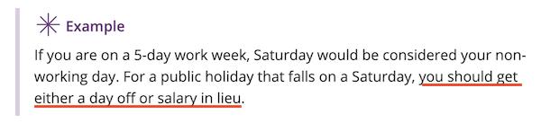 Jour ferie qui tombe le samedi a Singapour