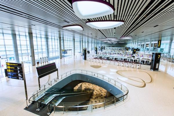 Hall de depart du T4 a Singapour
