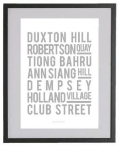 Poster nom des rues Singapour