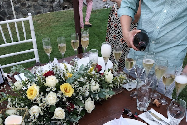 Champagne mariage Bali