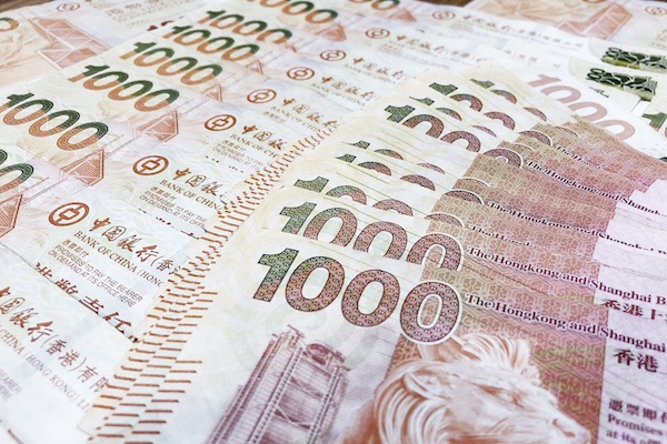 Hong-Kong dollars billets de 1000 dollars