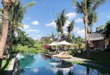 Piscine dans villa Bali