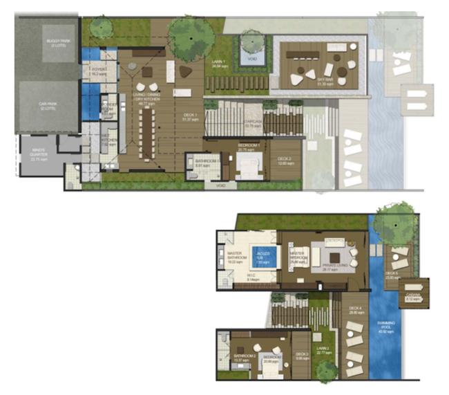 Plan des residences au Montigo Resorts de Nongsa a Batam