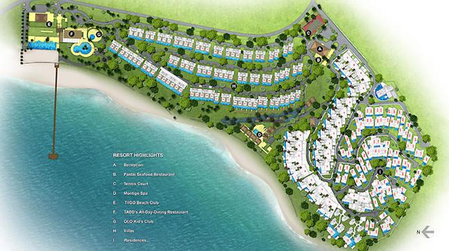 Plan du Montigo resorts Nongsa de Batam